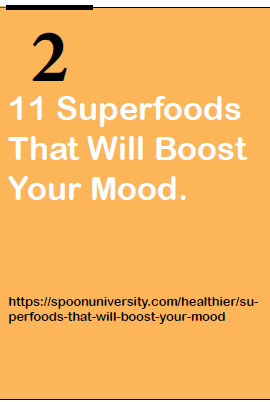 11 superfoods that will boost your mood